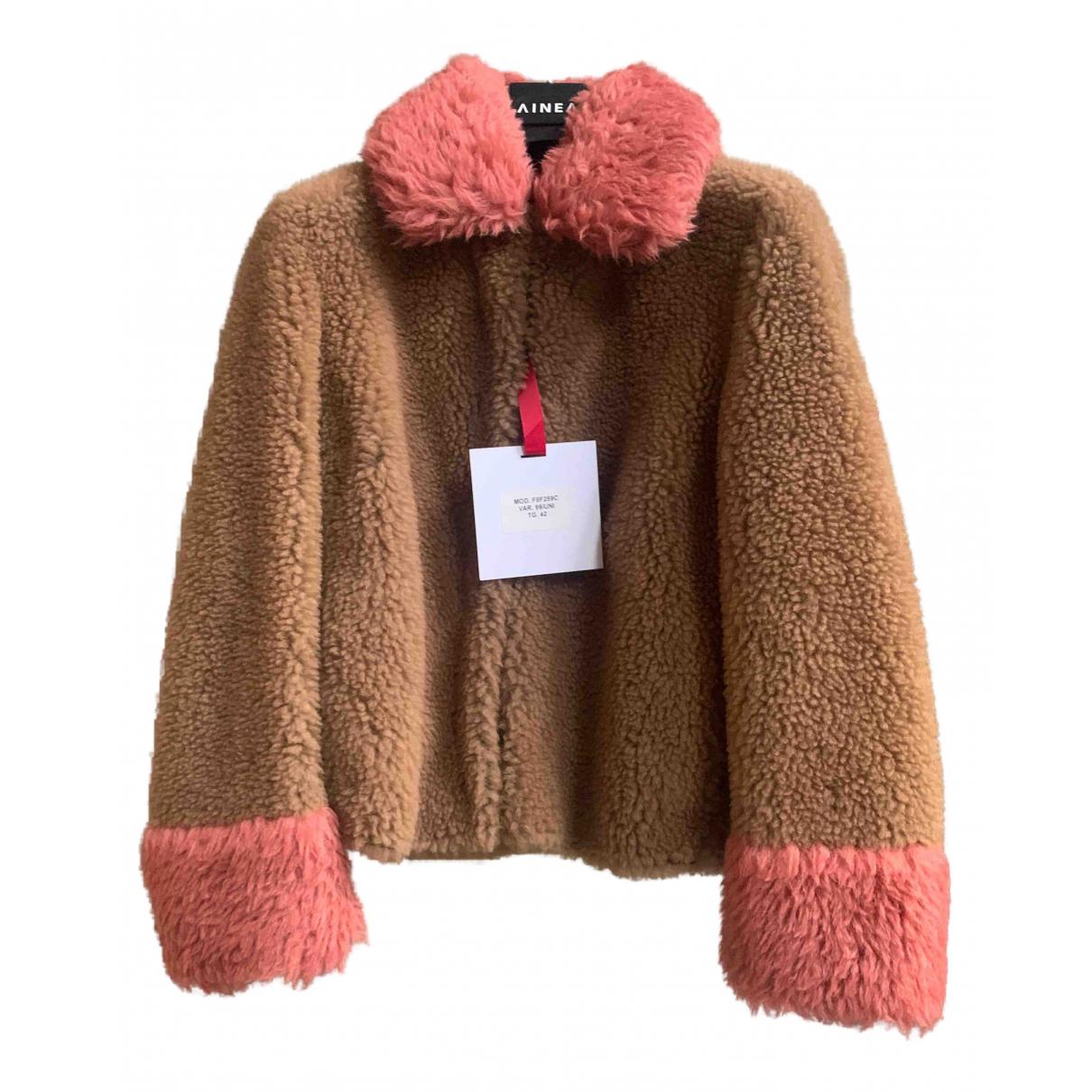 Ainea - Veste   pour femme en laine - beige