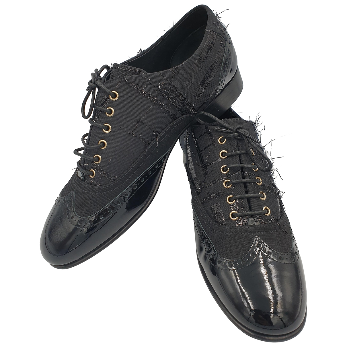 Chanel \N Black Patent leather Lace ups for Women 40 EU