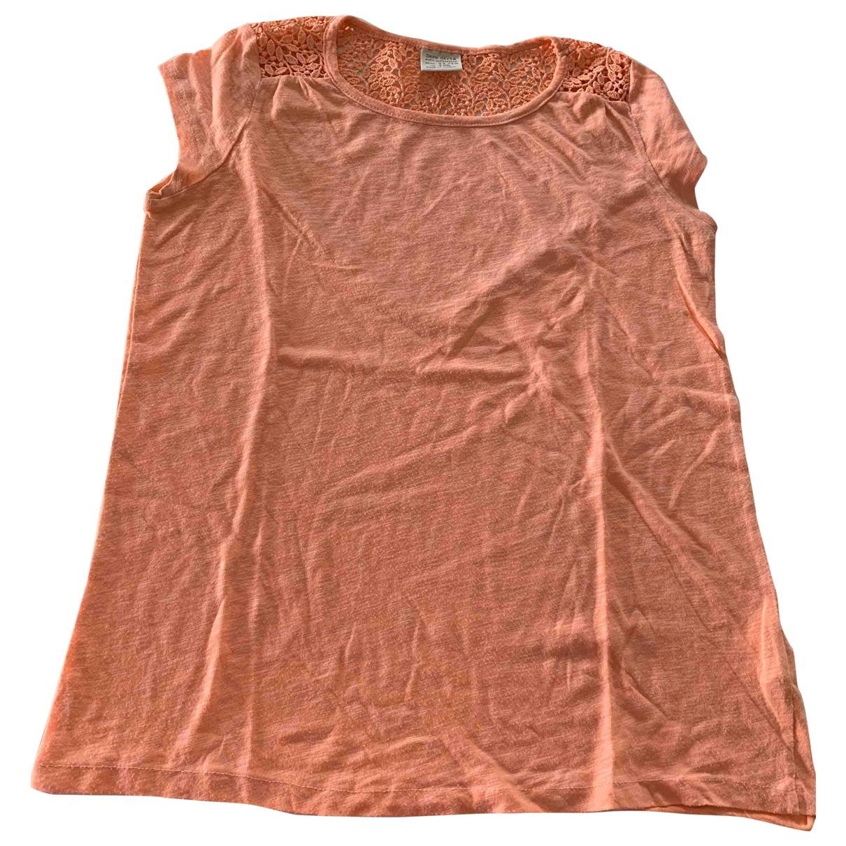 Zara \N Orange Cotton  top for Kids 12 years - XS UK