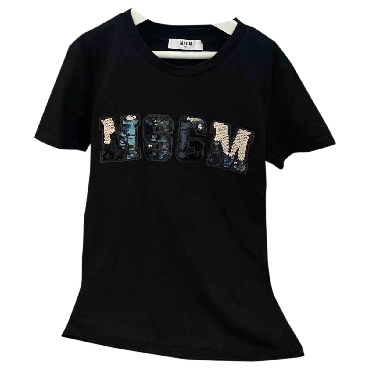 Msgm - Top   pour enfant en coton - noir