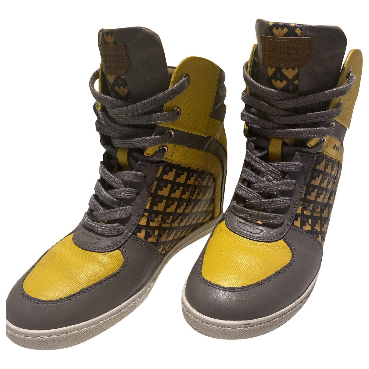 Bally \N Sneakers in  Gelb Leder