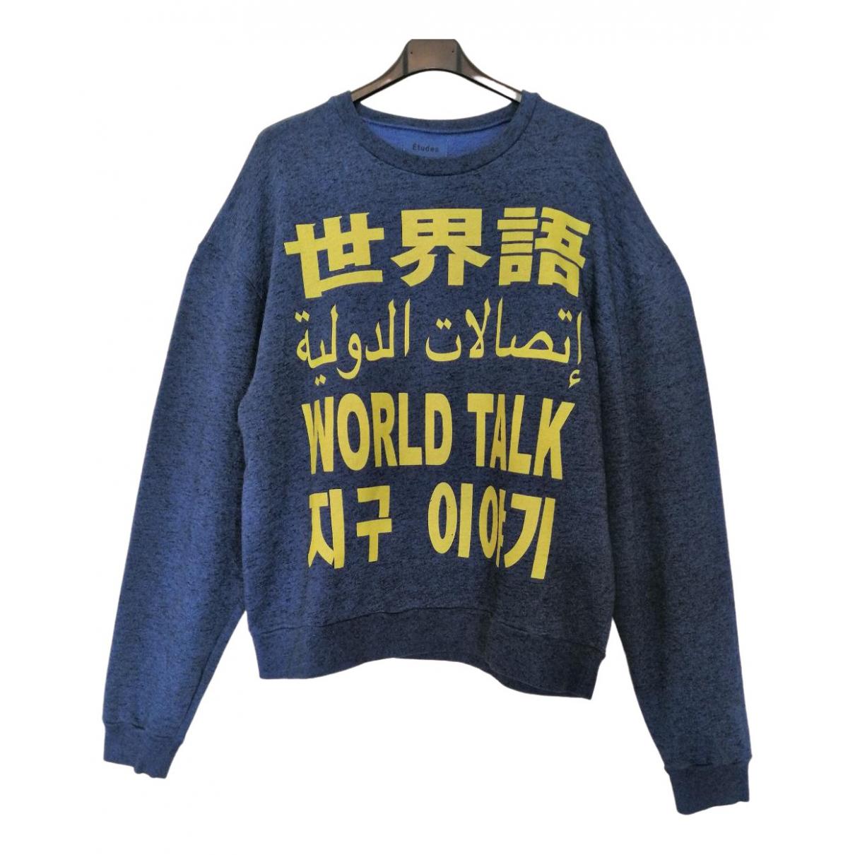 Études Studio \N Blue Cotton Knitwear & Sweatshirts for Men M International