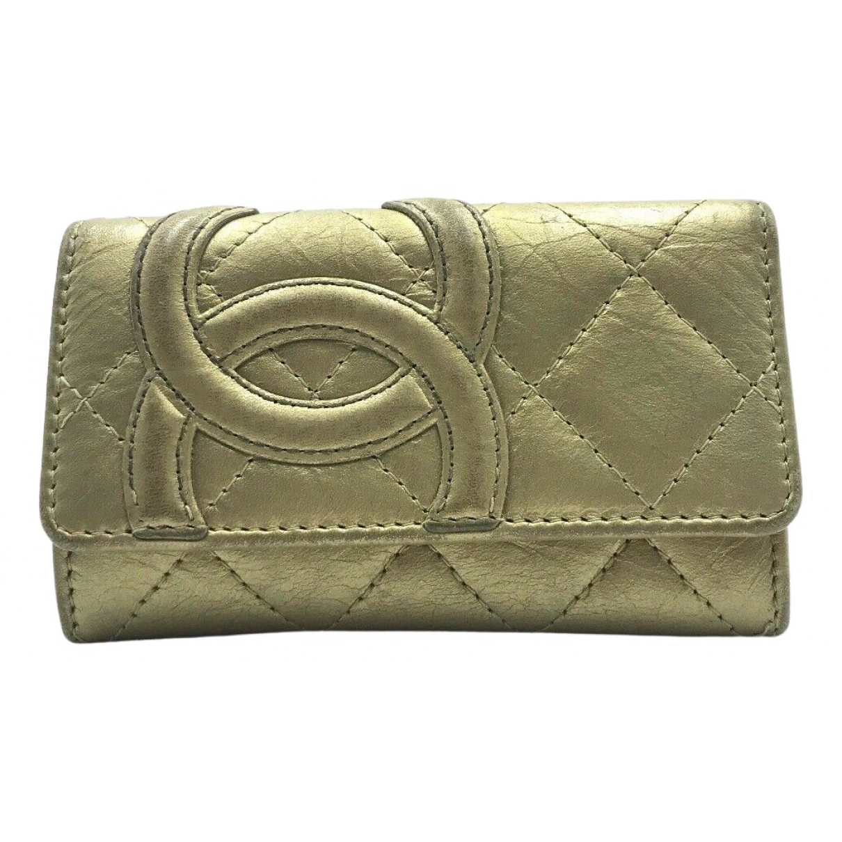 Chanel - Petite maroquinerie   pour femme en cuir - dore