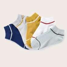 5pairs Boys Simple Socks