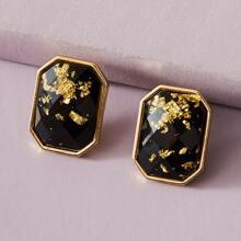 1pair Simple Square Earrings