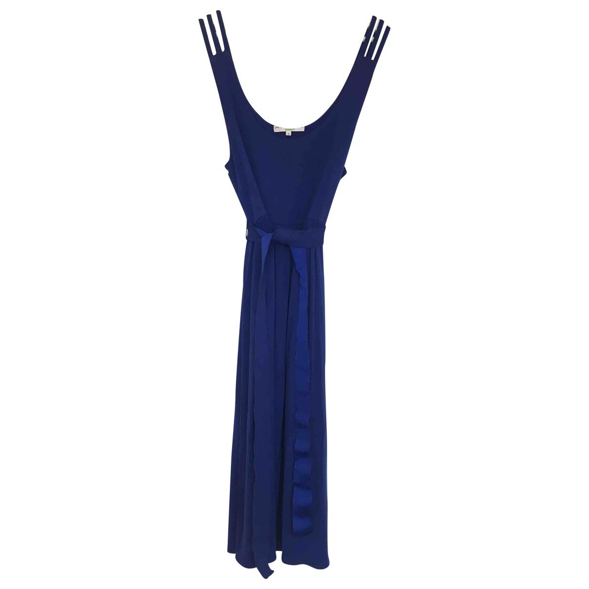 Les Ateliers De La Maille \N Kleid in  Blau Viskose