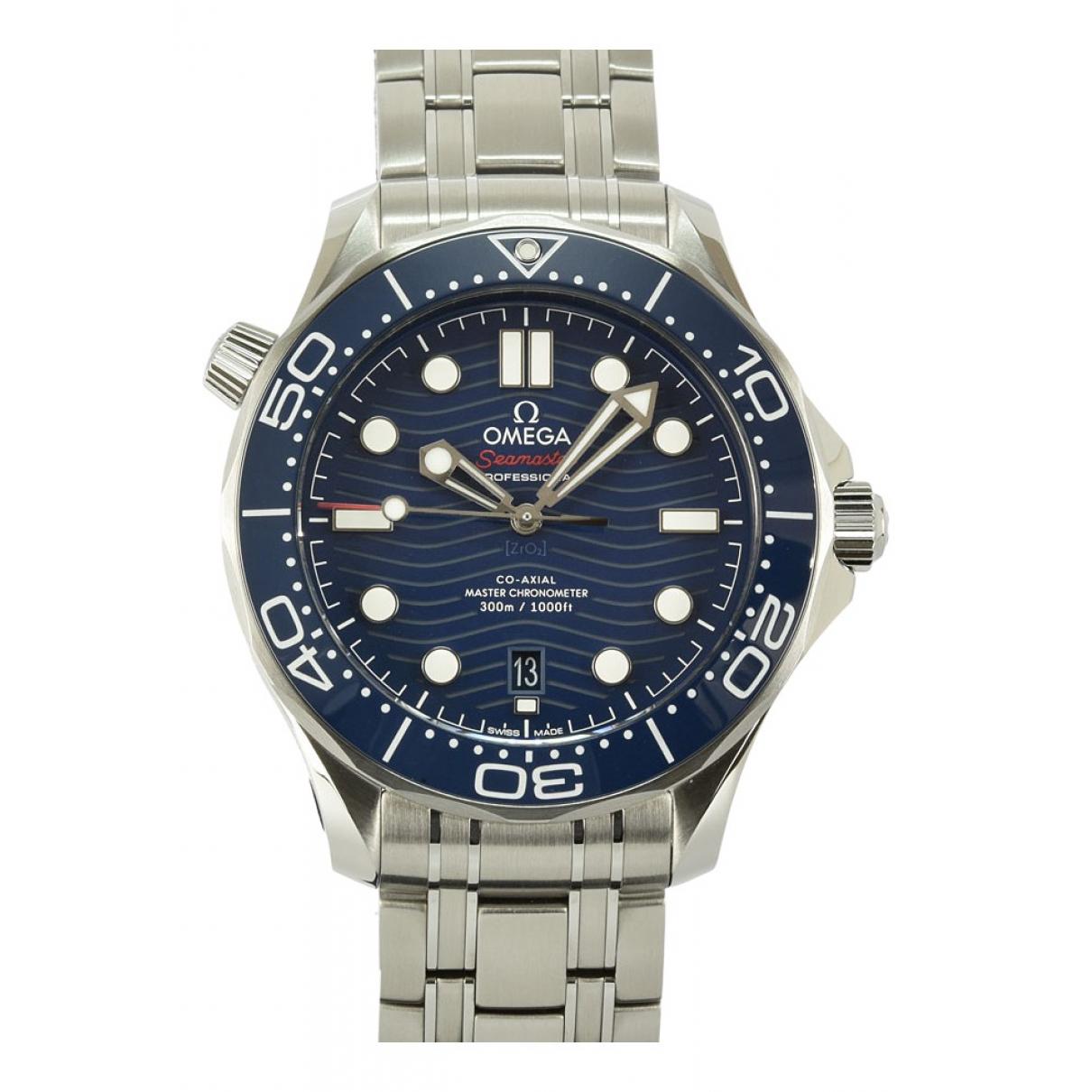 Omega - Montre Seamaster pour homme en acier - bleu