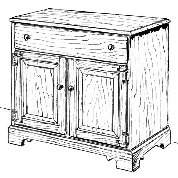 Woodworking Project Paper Plan to Build Buffet Cupboard