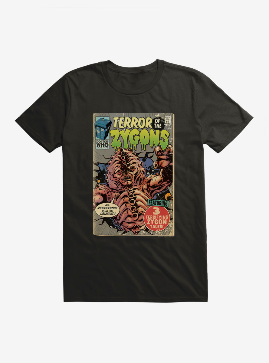 Doctor Who Terror Of Zygons Comic T-Shirt