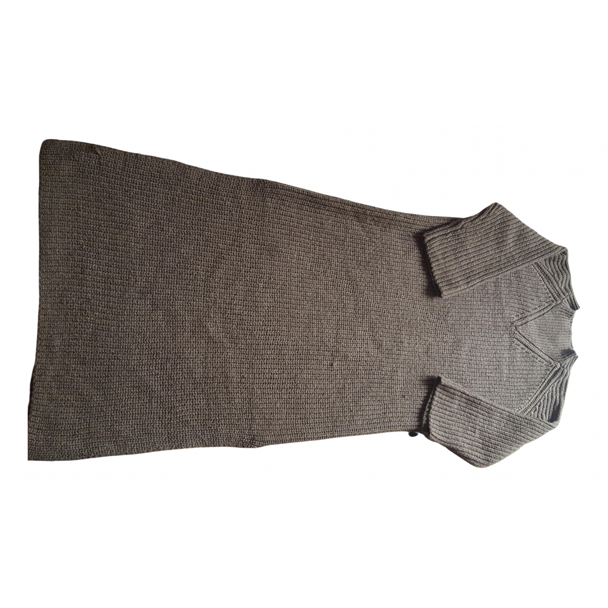 Minimum \N Kleid in  Braun Wolle