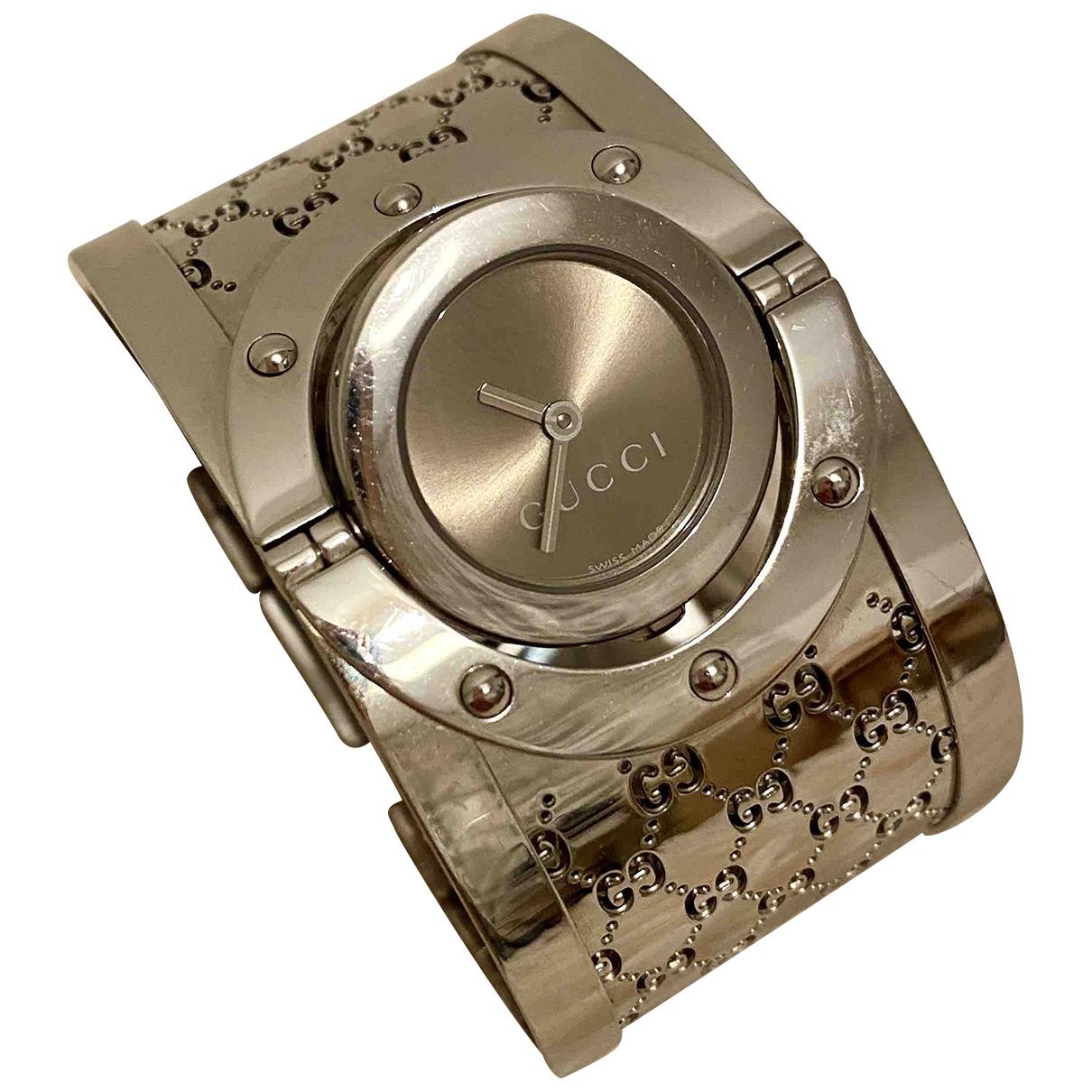 Gucci Twirl Uhr in  Silber Stahl