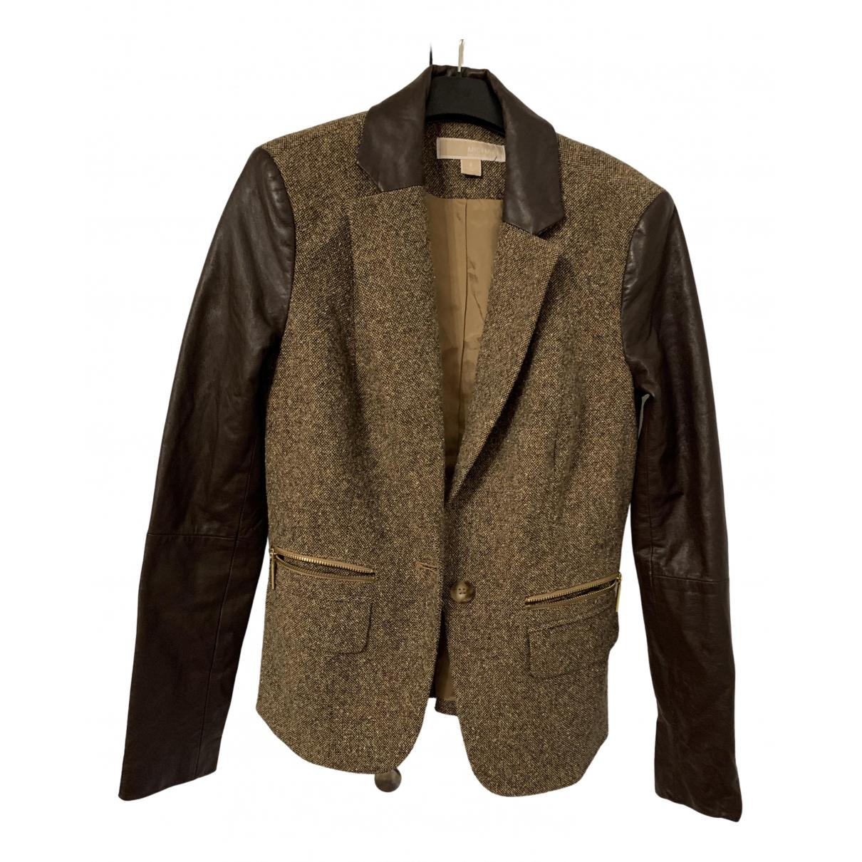 Michael Kors - Veste   pour femme en tweed - marron