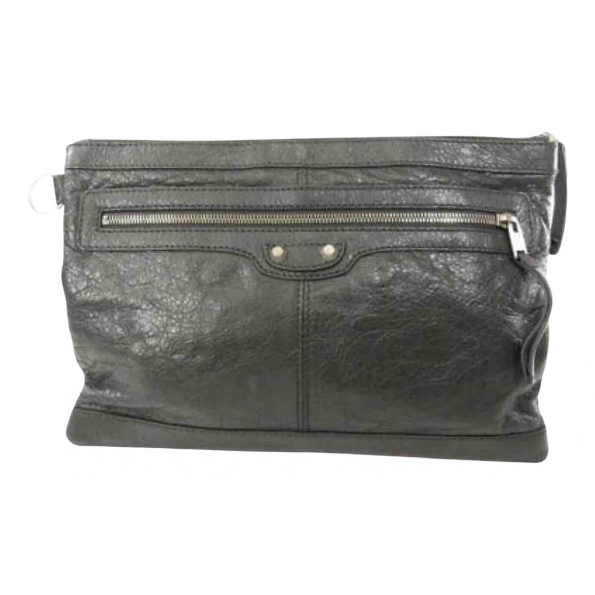 Balenciaga N Grey Leather Small bag, wallet & cases for Men N