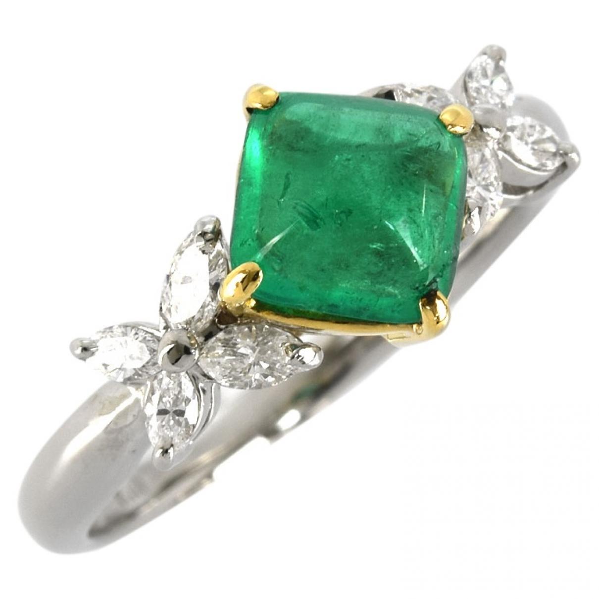 - Bague   pour femme en or jaune - vert