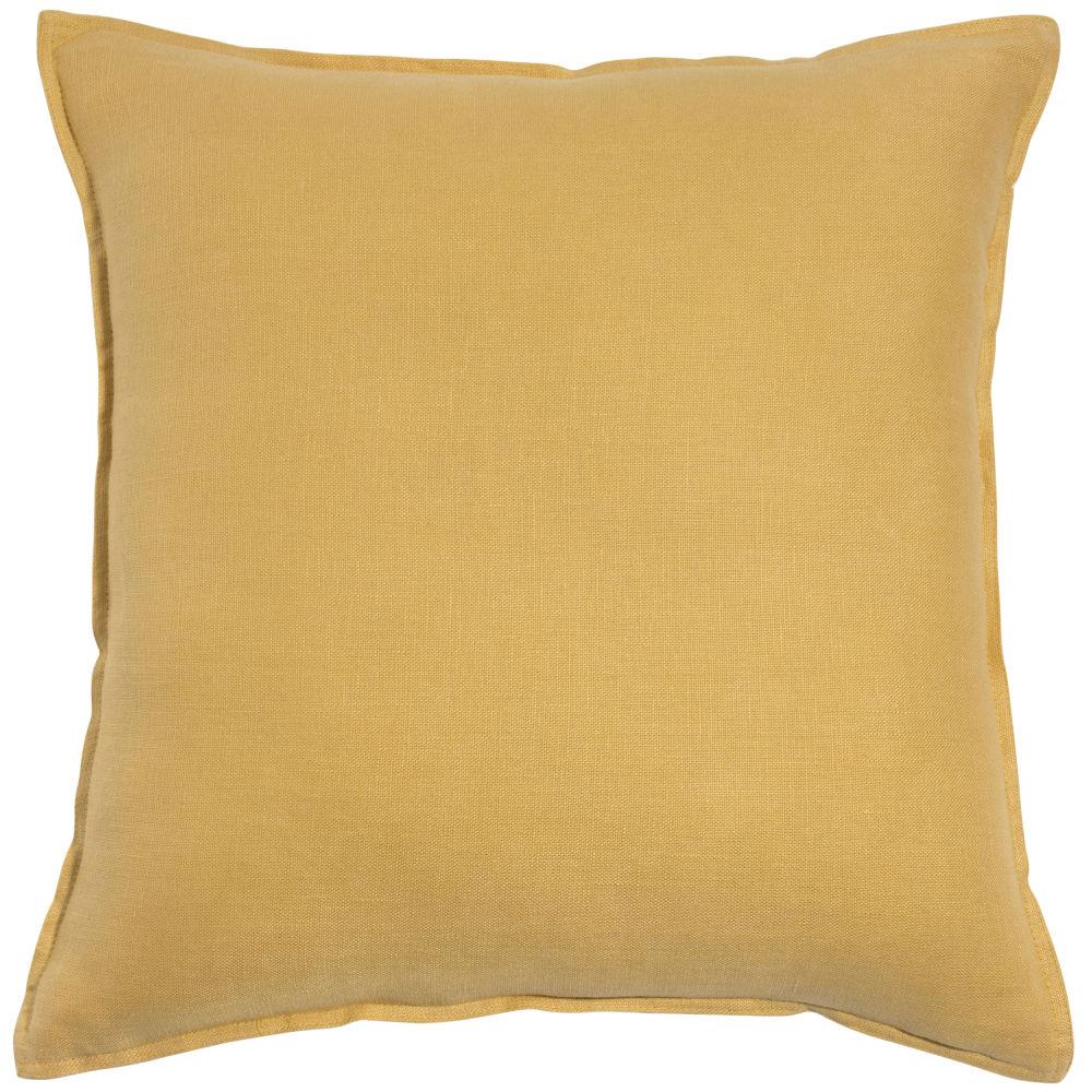 Kissen aus grobem Leinen, gelb, 60x60