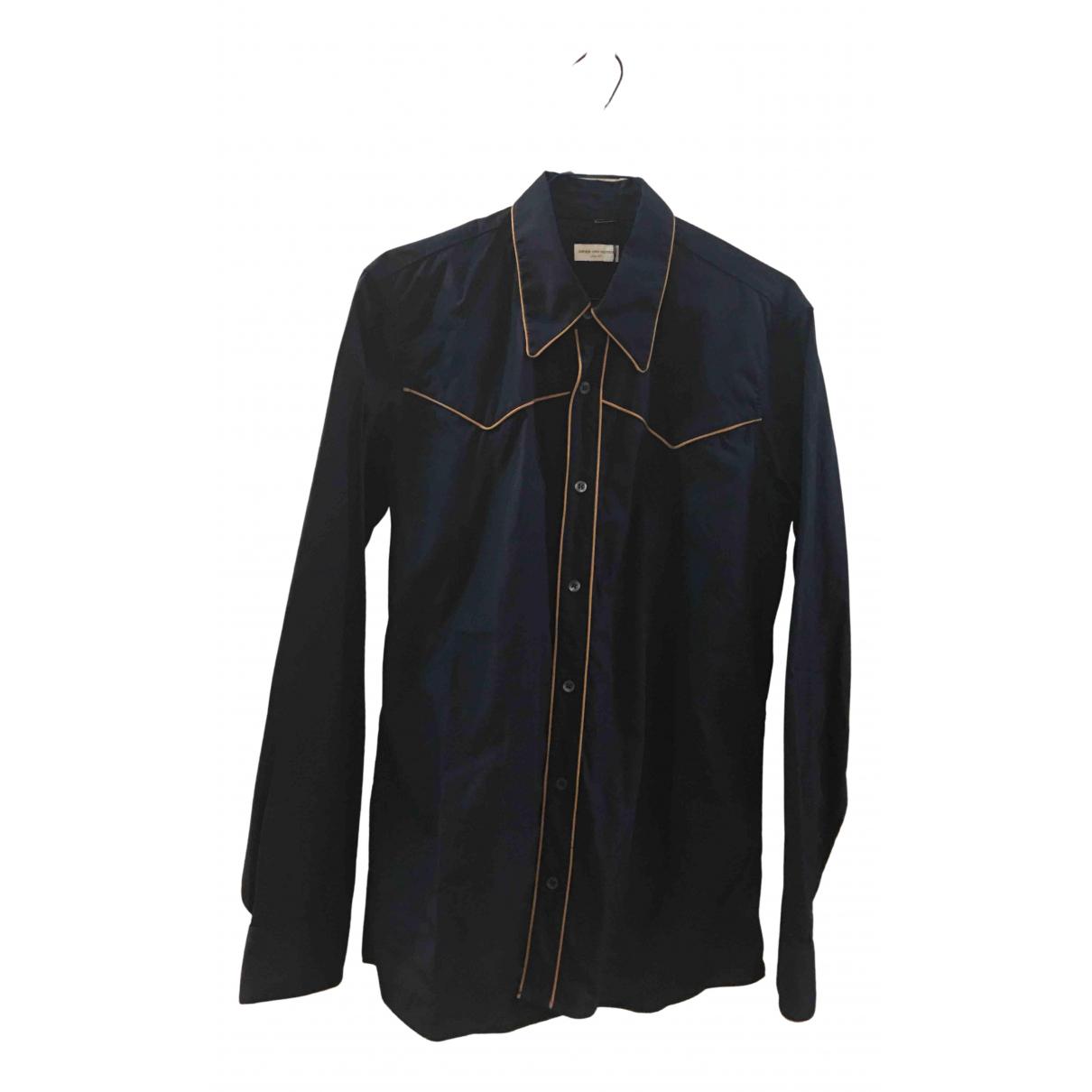 Dries Van Noten - Chemises   pour homme en coton - marine