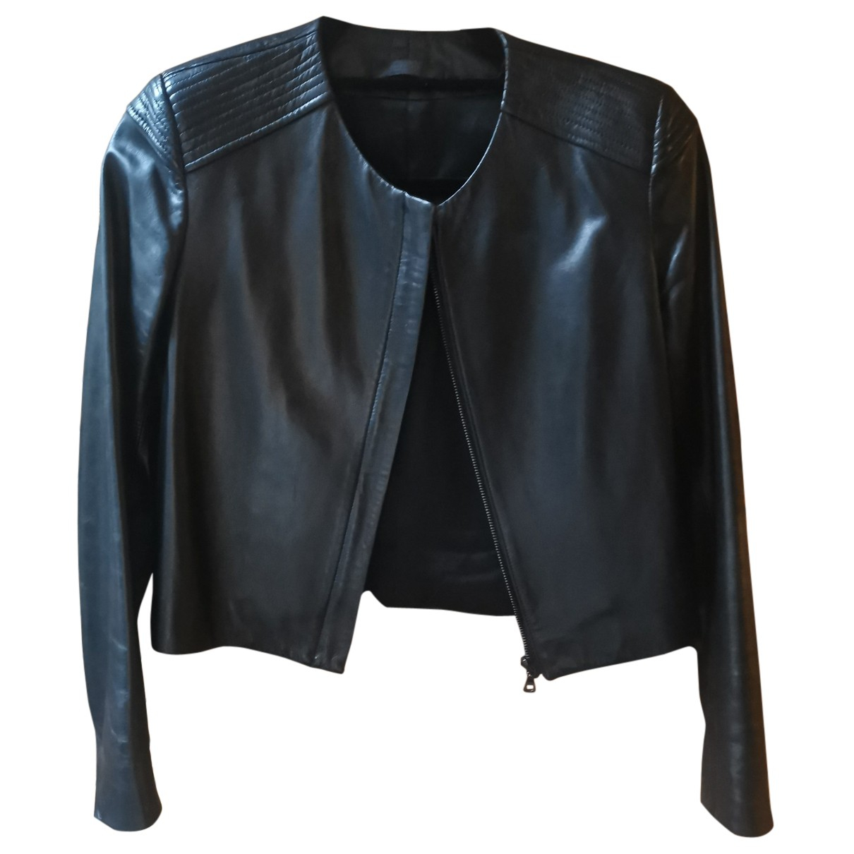 The Row N Black Leather Leather jacket for Women 2 US