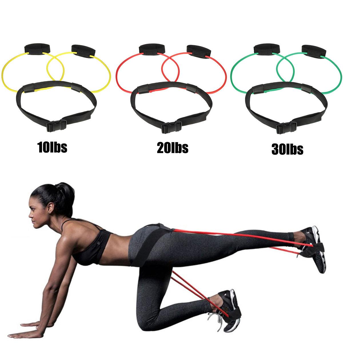 Unisex Hip Training Belt Hip Leg Muscle Training Elastic Rope Slimming Training Body Yoga Rope