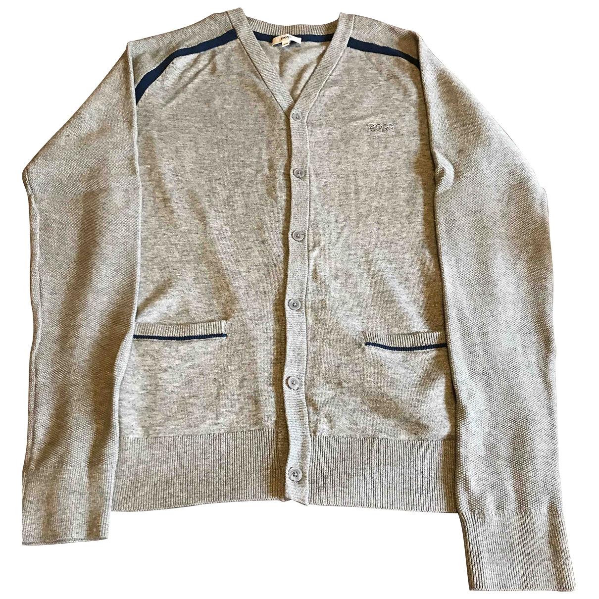 Hugo Boss - Pull   pour enfant en coton - gris