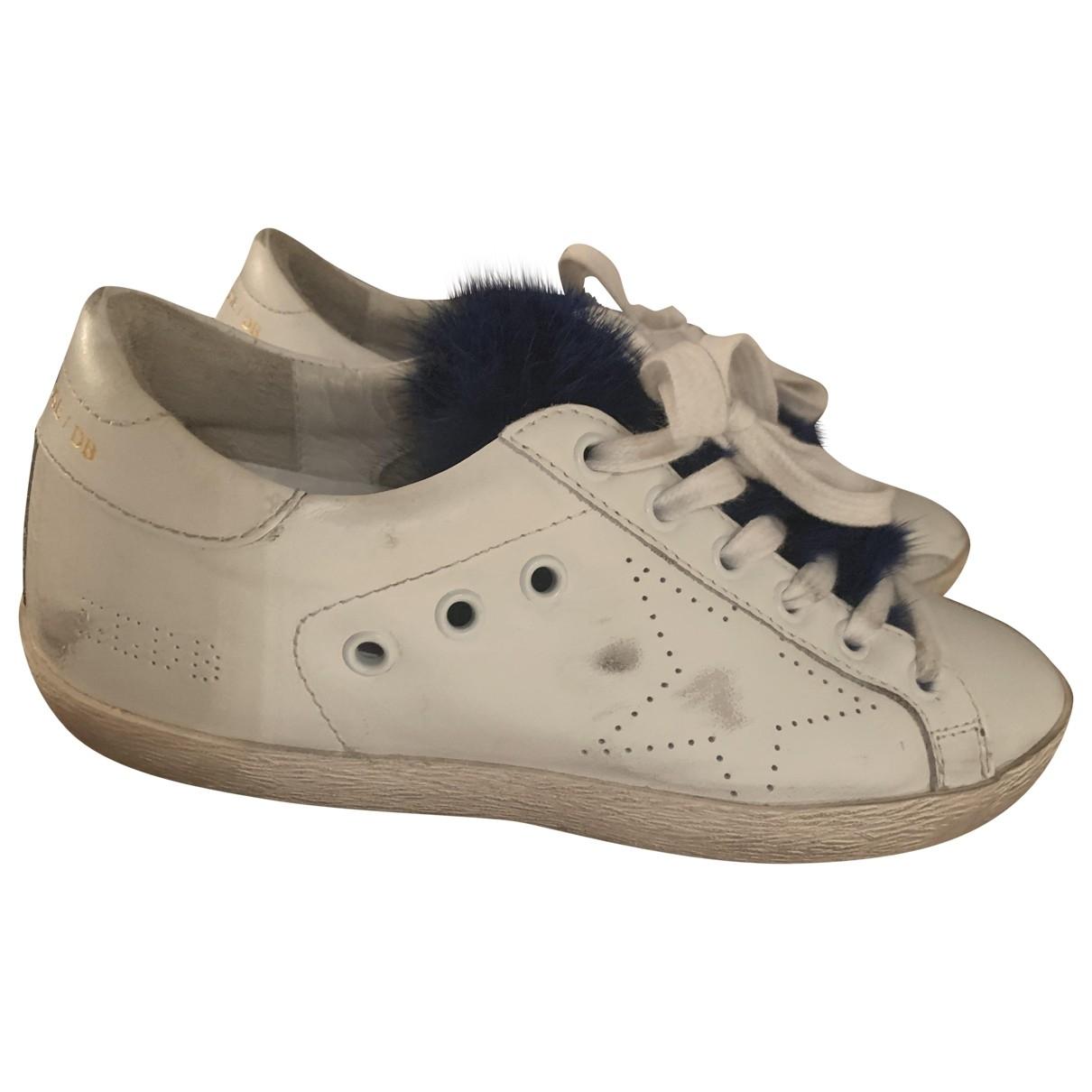 Golden Goose Superstar Sneakers in  Blau Fell
