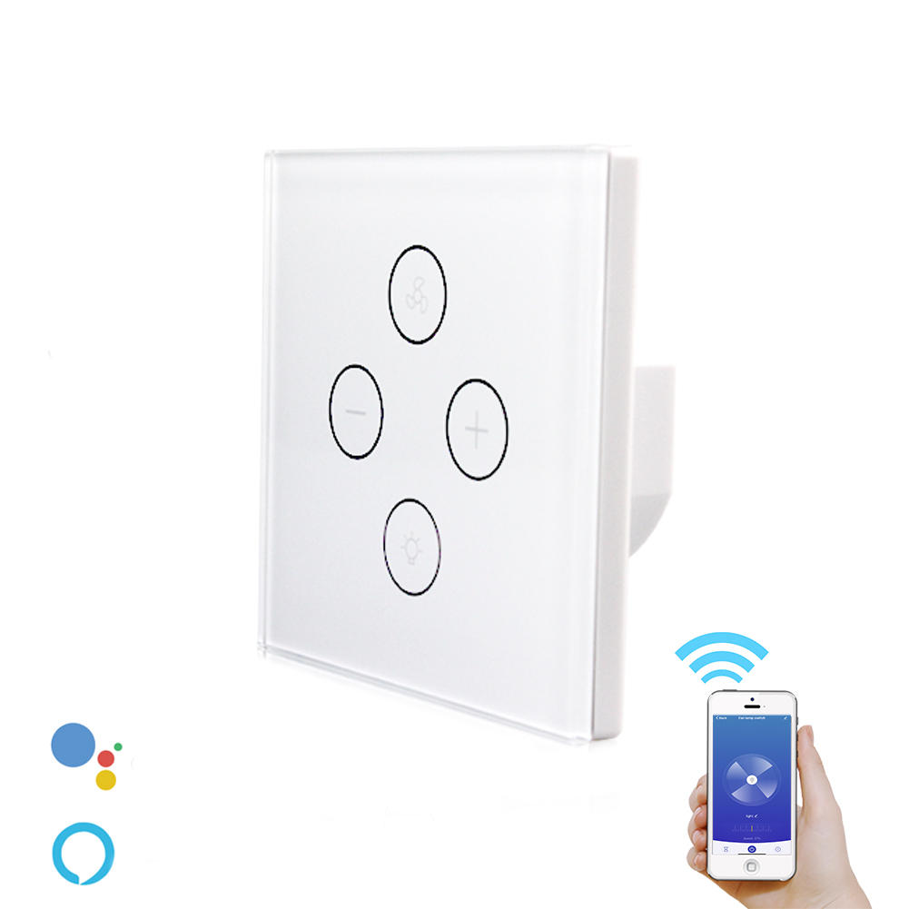 AC100-240V WiFi Smart Ceiling Fan Light Switch Various Speed Control Work with Alexa Google Home
