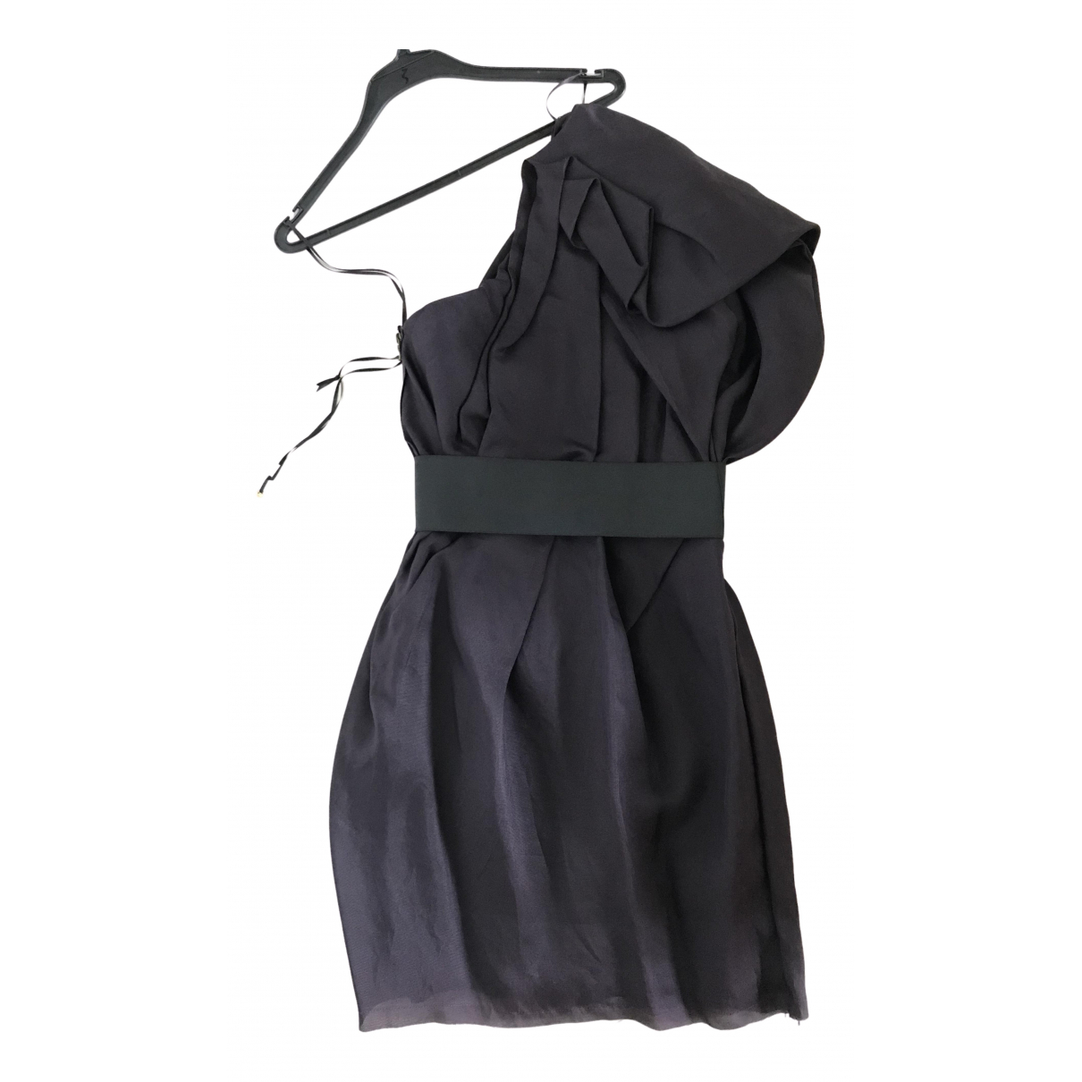 Lanvin For H&m N Purple Silk dress for Women 10 UK