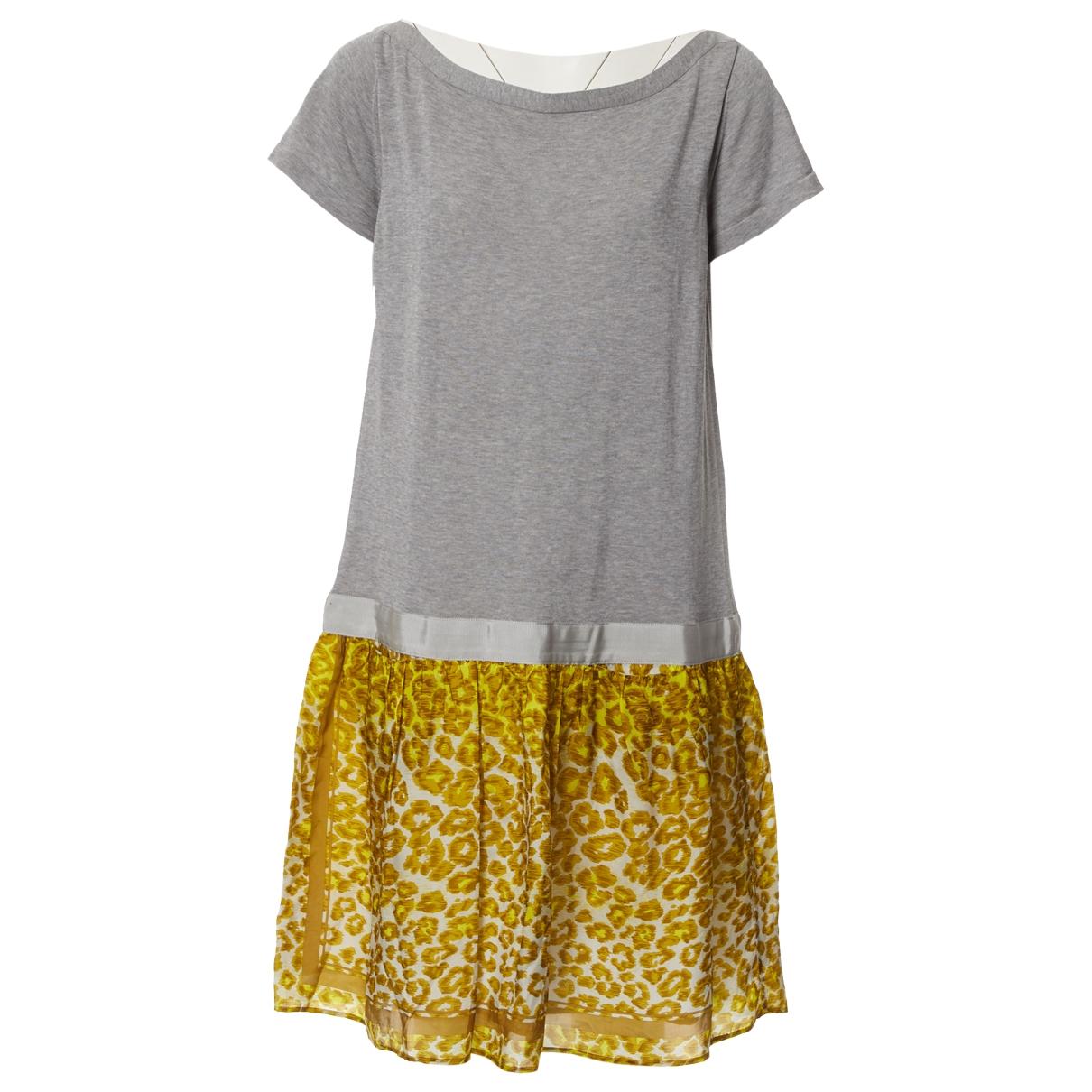 Sacai - Robe   pour femme en coton - gris