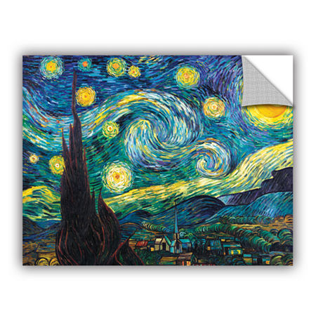 Brushstone Starry Night Removable Wall Decal, One Size , Blue