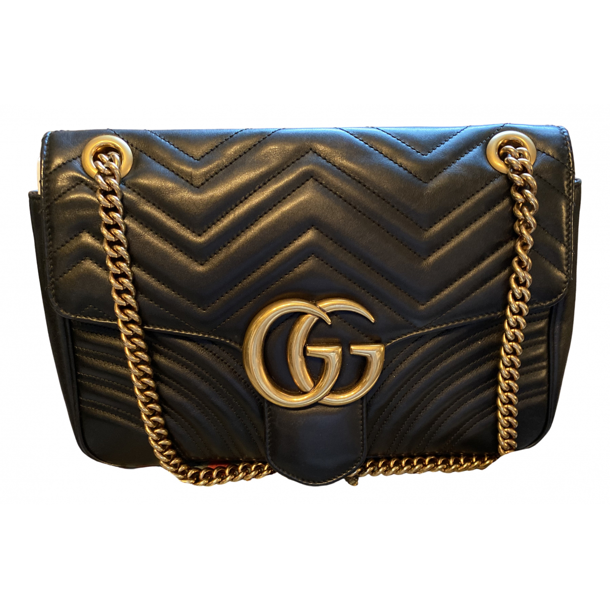 Gucci Marmont Black Leather handbag for Women \N