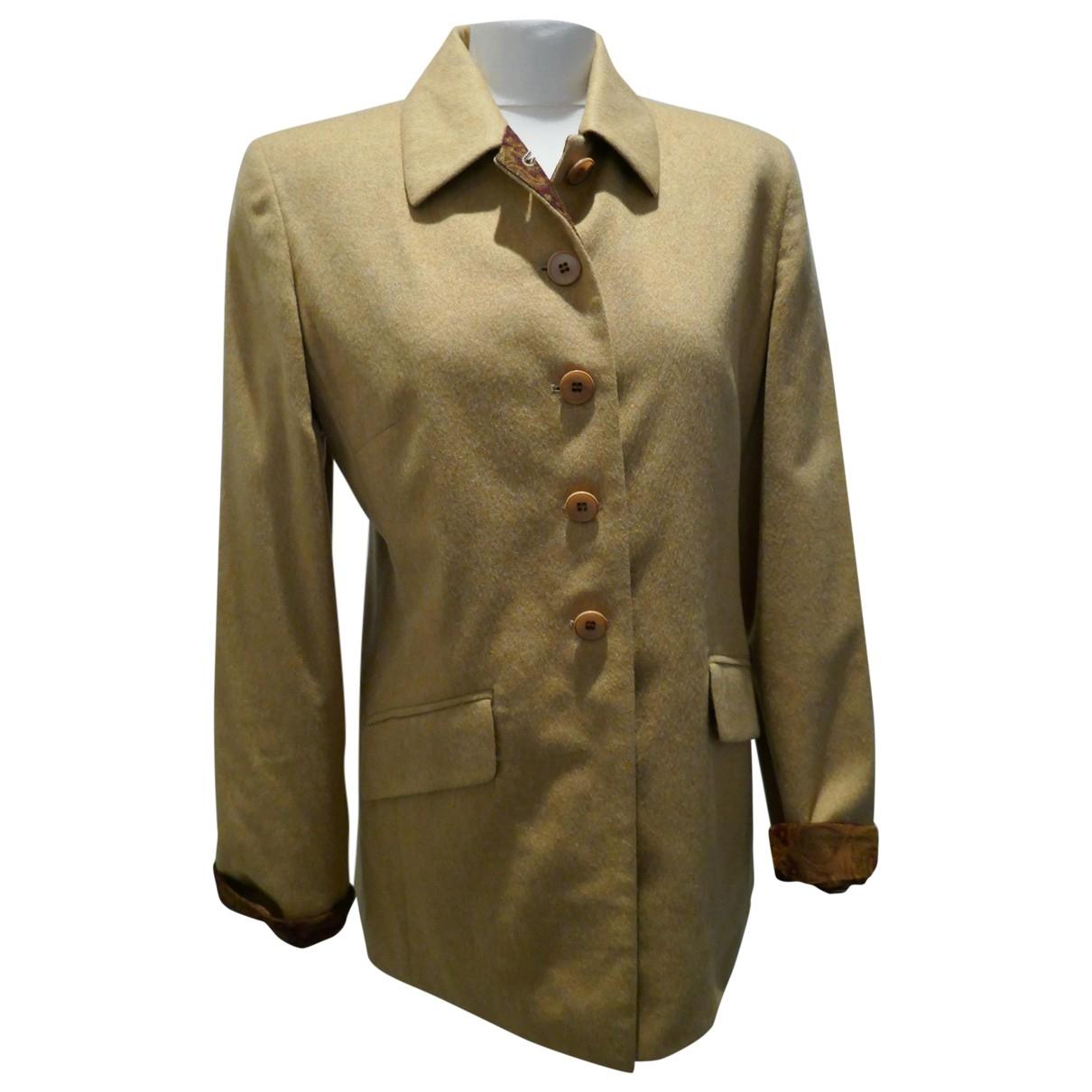 Burberry - Veste   pour femme en laine - jaune