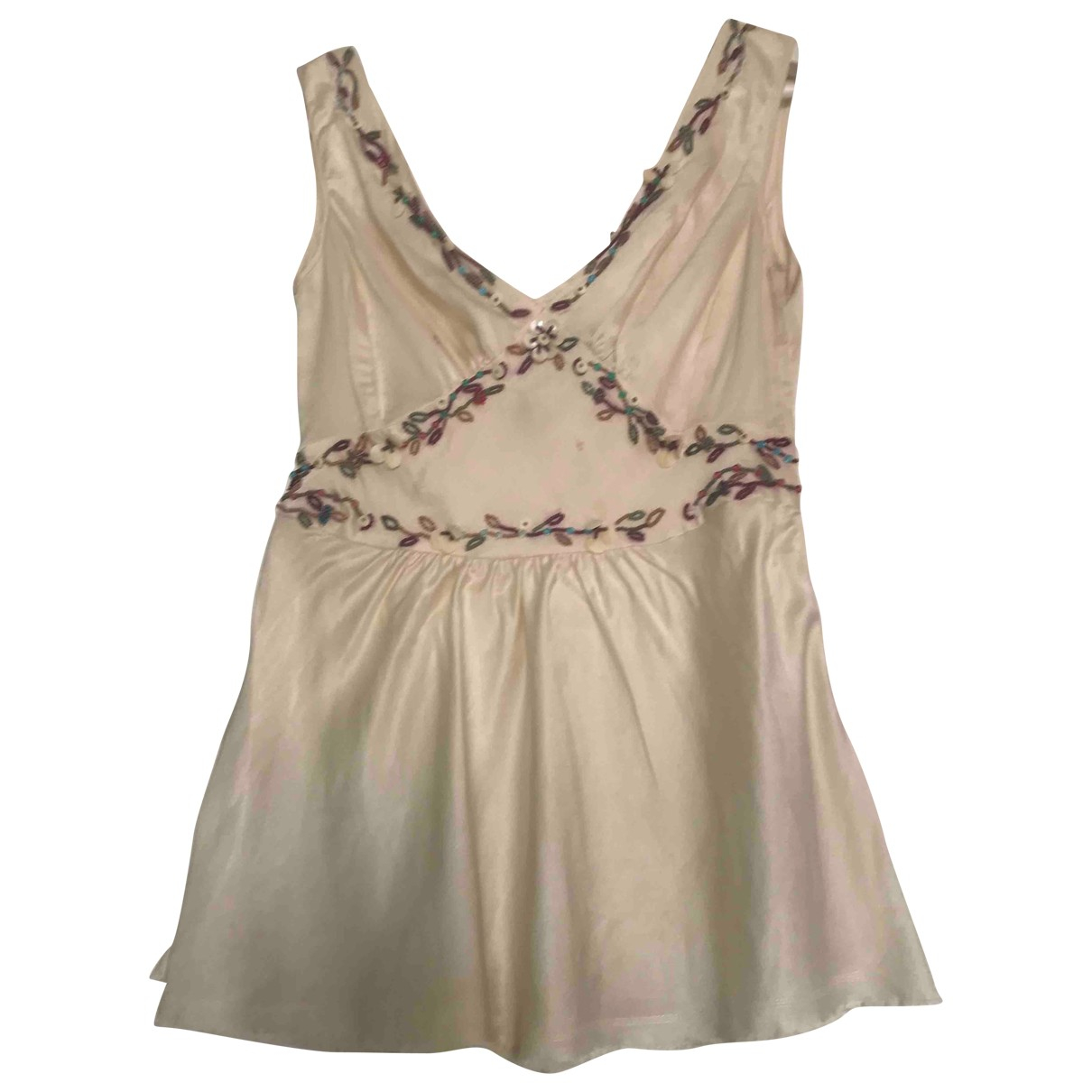 Max Mara \N Ecru Silk  top for Women 40 IT