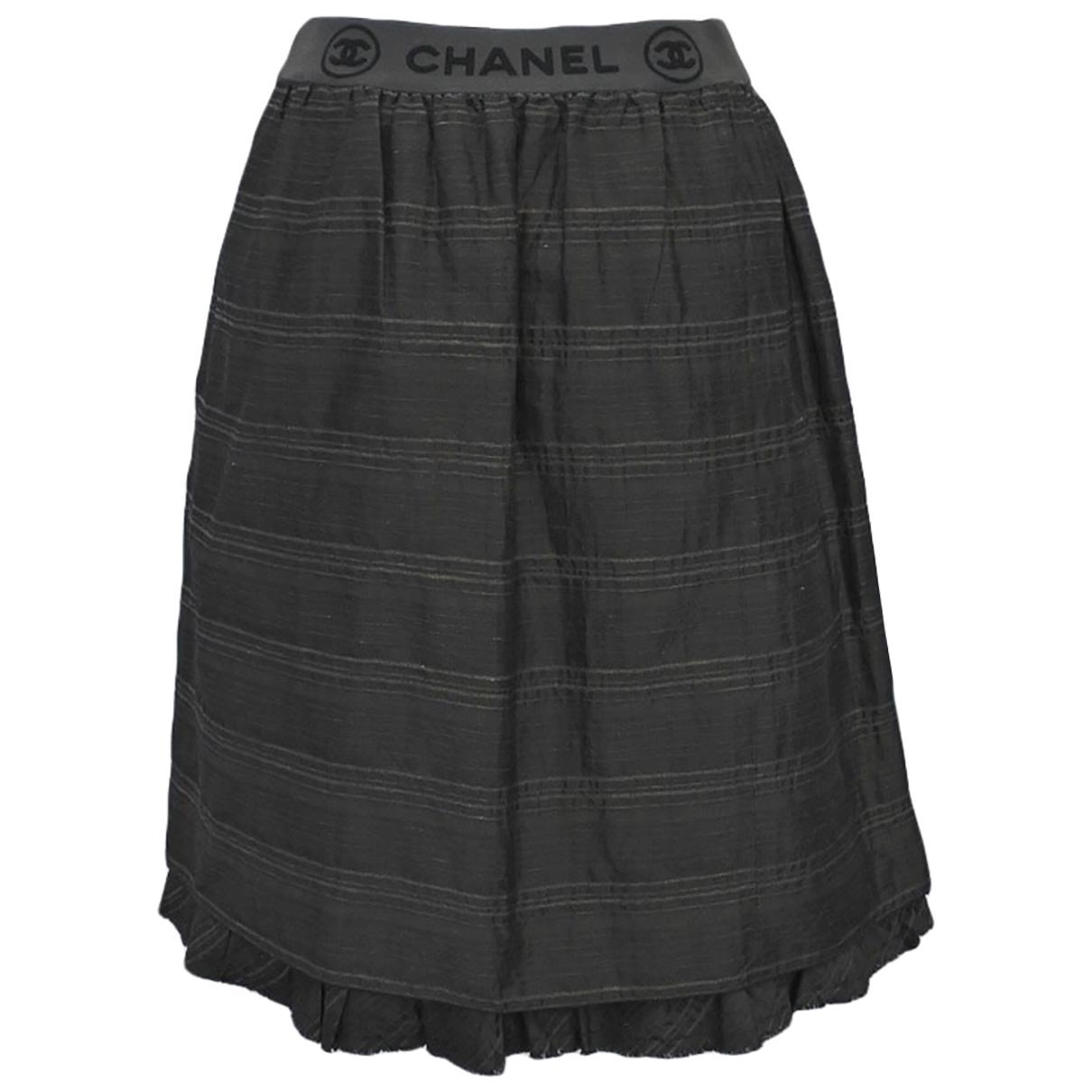 Chanel - Jupe   pour femme en coton - gris