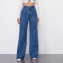 BLUES pantalones palazzo de cintura alta