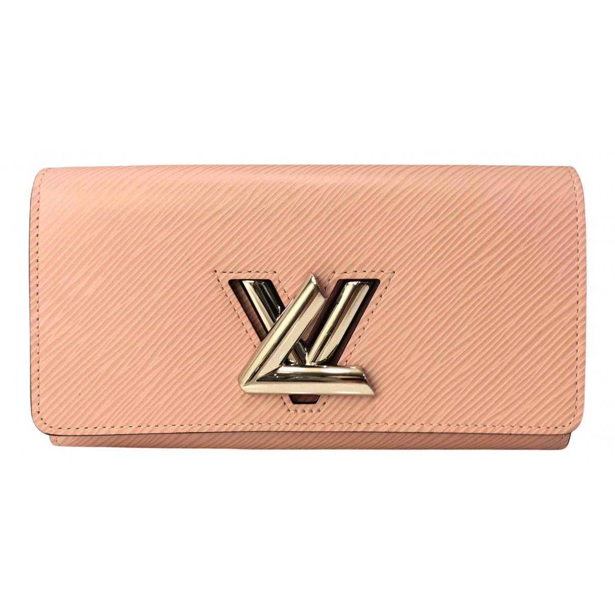 Louis Vuitton Twist Portemonnaie in  Rosa Leder