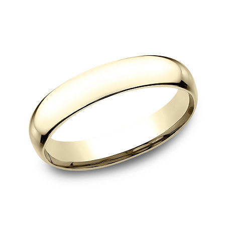 Mens 14K Yellow Gold Wedding Band, 14 , No Color Family