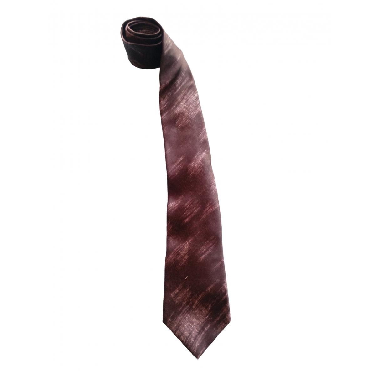 Giorgio Armani - Cravates   pour homme en soie - noir