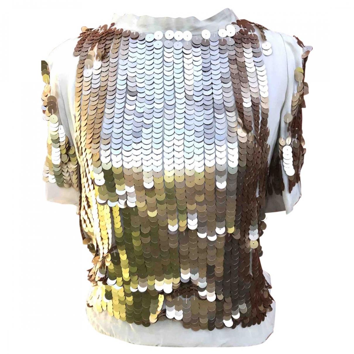 Patrizia Pepe \N Top in  Metallic Polyester