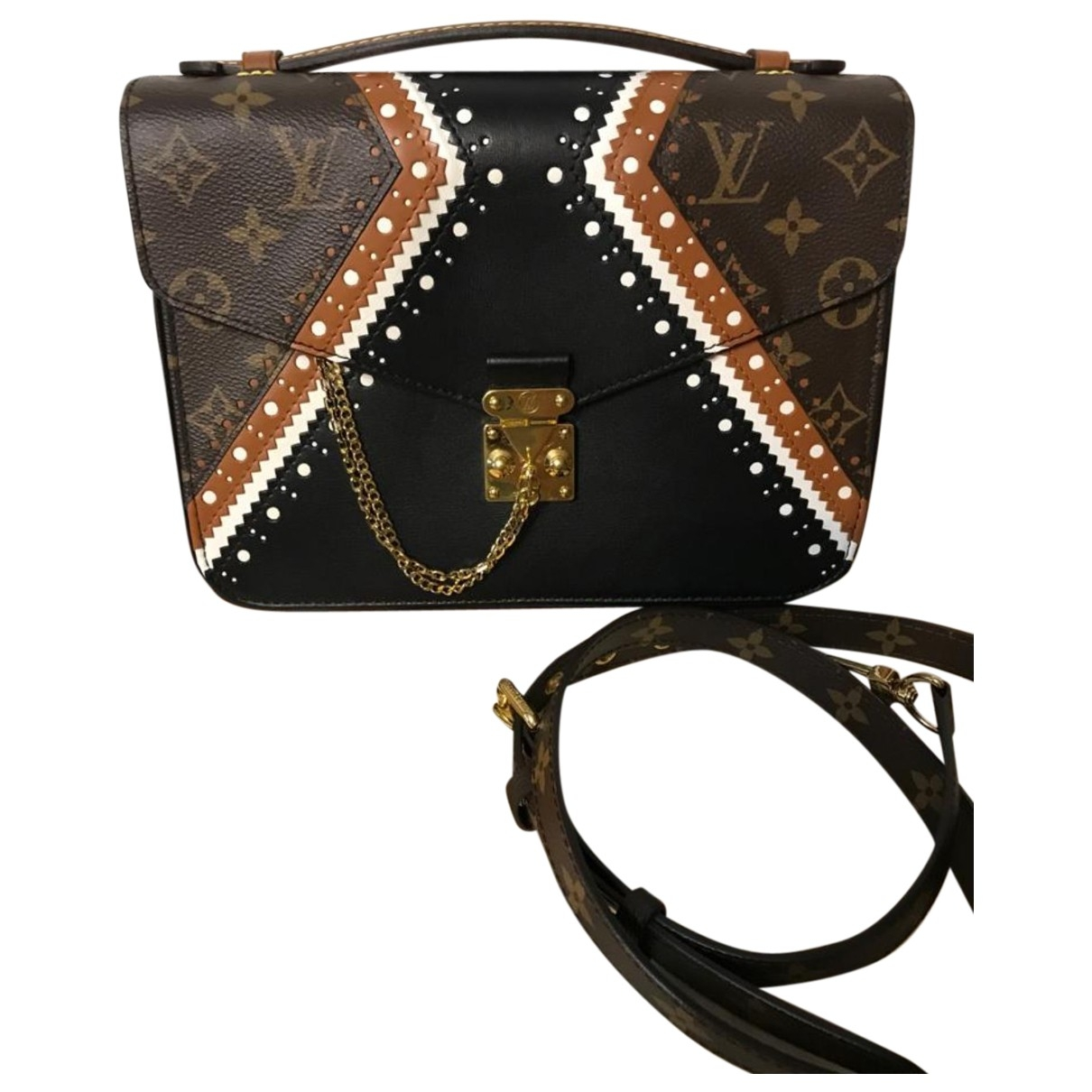 Louis Vuitton Metis Handtasche in  Blau Leder