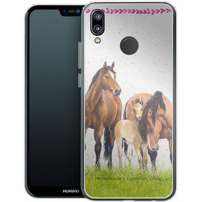 Huawei P20 Lite Silikon Handyhuelle - Pferdefreunde Familie von Pferdefreunde