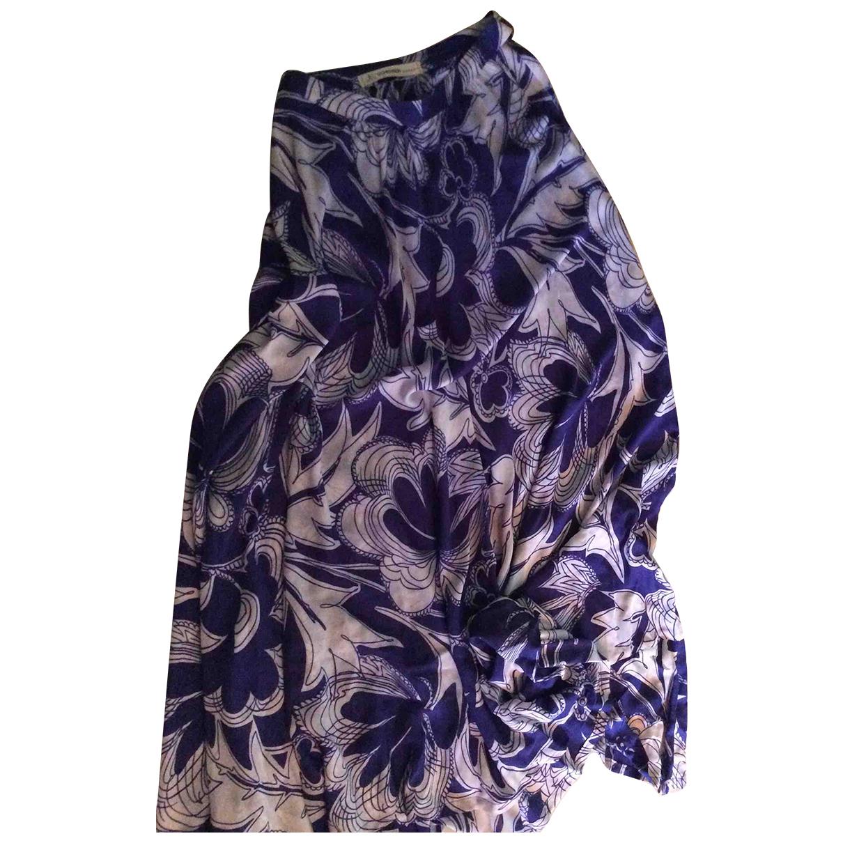 Jean-louis Scherrer \N Kleid in  Blau Seide