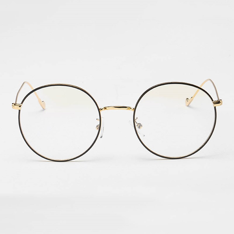Ericdress Round Black Rimmed Glasses