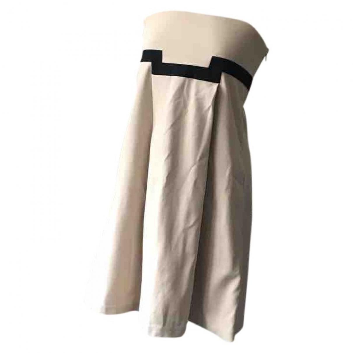 Diane Von Furstenberg \N Kleid in  Beige Baumwolle - Elasthan