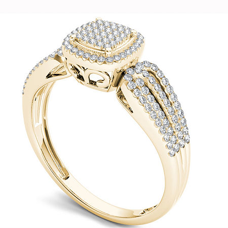 Womens 1/5 CT. T.W. Round White Diamond 10K Gold Engagement Ring, 7 , No Color Family