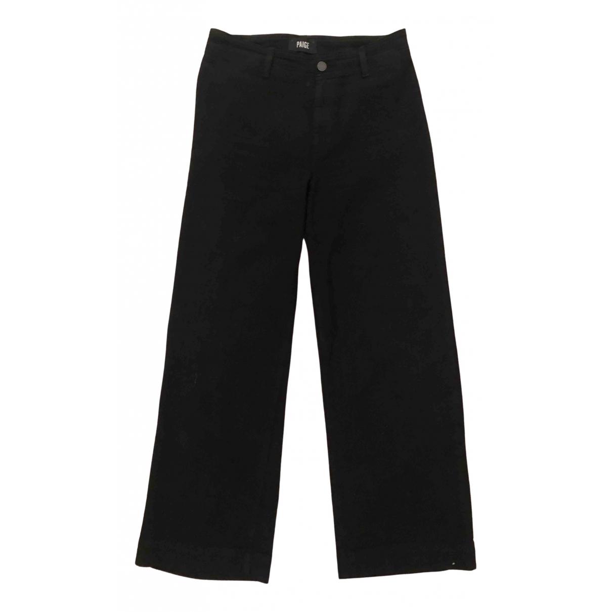 Paige Jeans N Black Cotton - elasthane Jeans for Women 28 US
