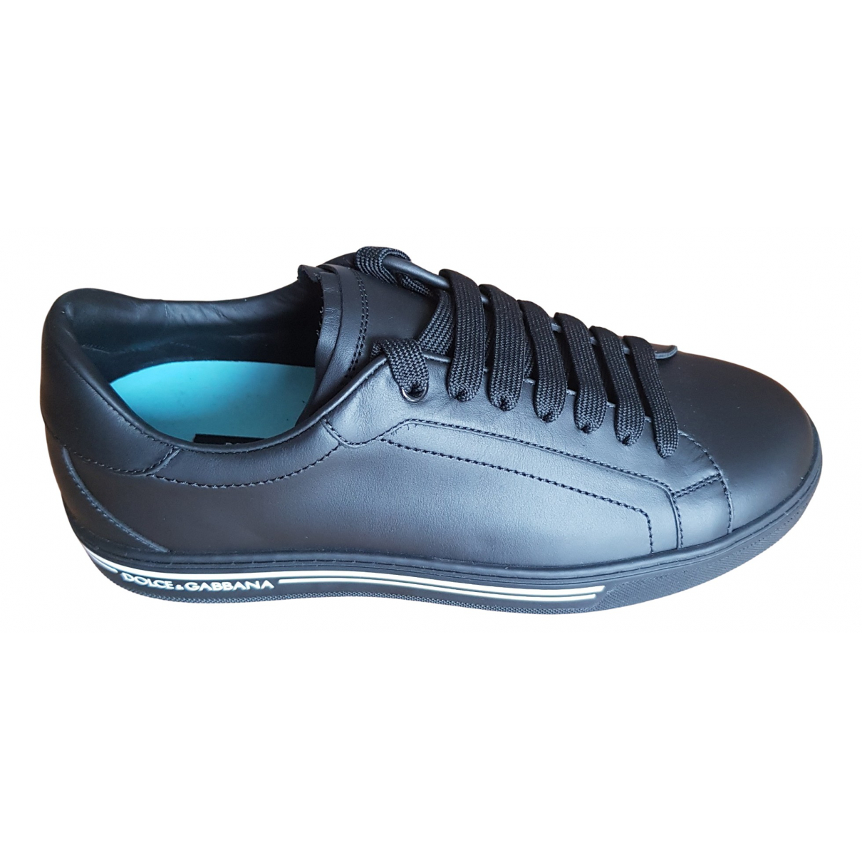 Dolce & Gabbana Roma Sneakers in  Schwarz Leder