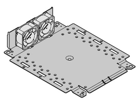 Schroff Mounting Plate with Fan Unit Mounting Plate with Fan Unit for use with Interscale M Electronic Case