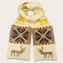 Christmas Deer Knit Scarf