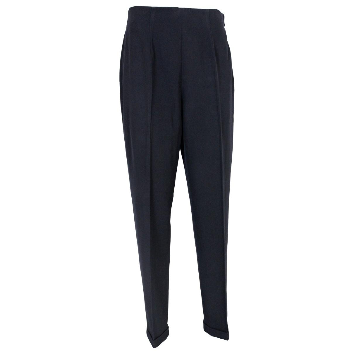 Katharine Hamnett \N Black Wool Trousers for Women 50-52 IT