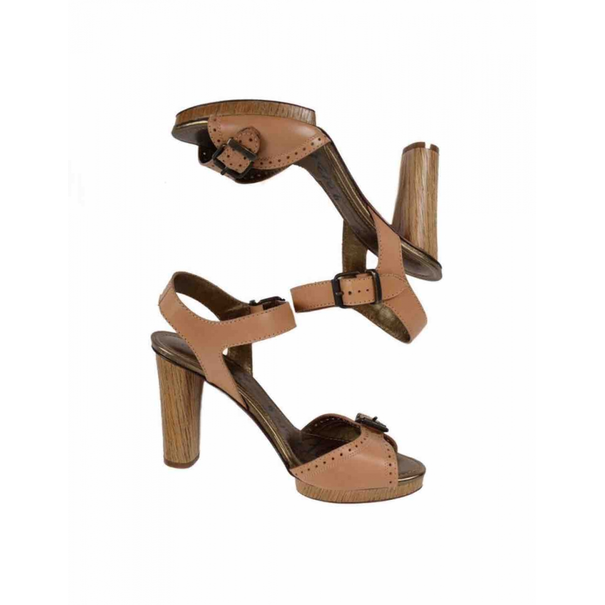 Lanvin \N Brown Leather Sandals for Women 39 EU