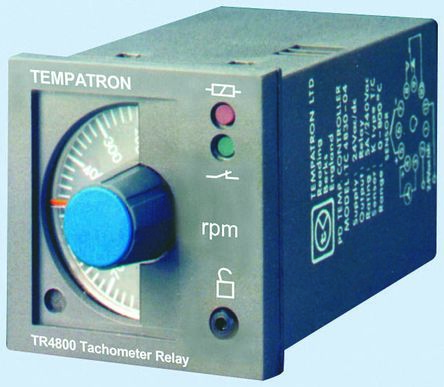 Tempatron Speed Monitoring Relay With SPDT Contacts, 110 V ac, 230 V ac Supply Voltage